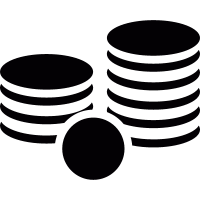 Stack of coins vector