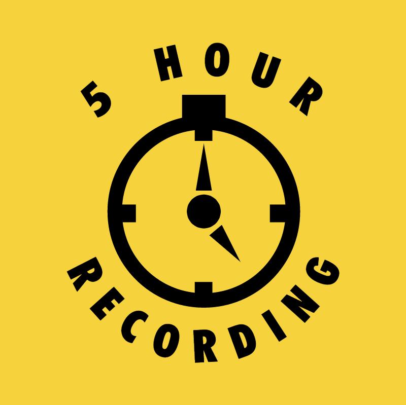 5 Hour Recording vector