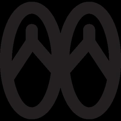Beach flip flops vector logo