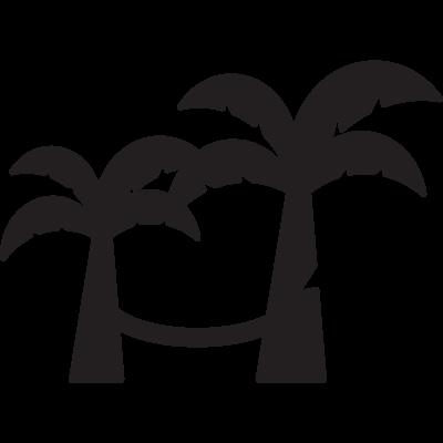 Hamac on trees vector logo
