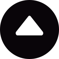 Little circular button with up arrow triangle vector