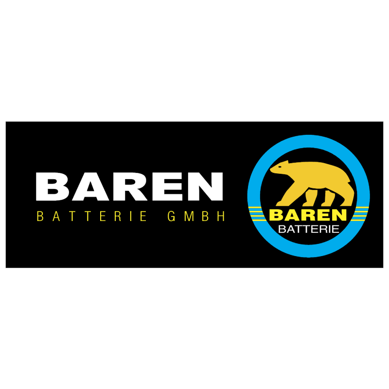 BAREN batteries GMBH 37329 vector logo