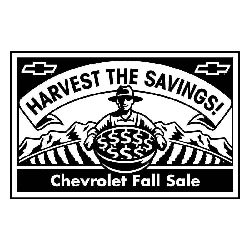 Chevrolet Fall Sale vector