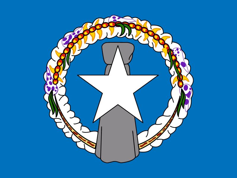 Flag of Northern Mariana Islands vector