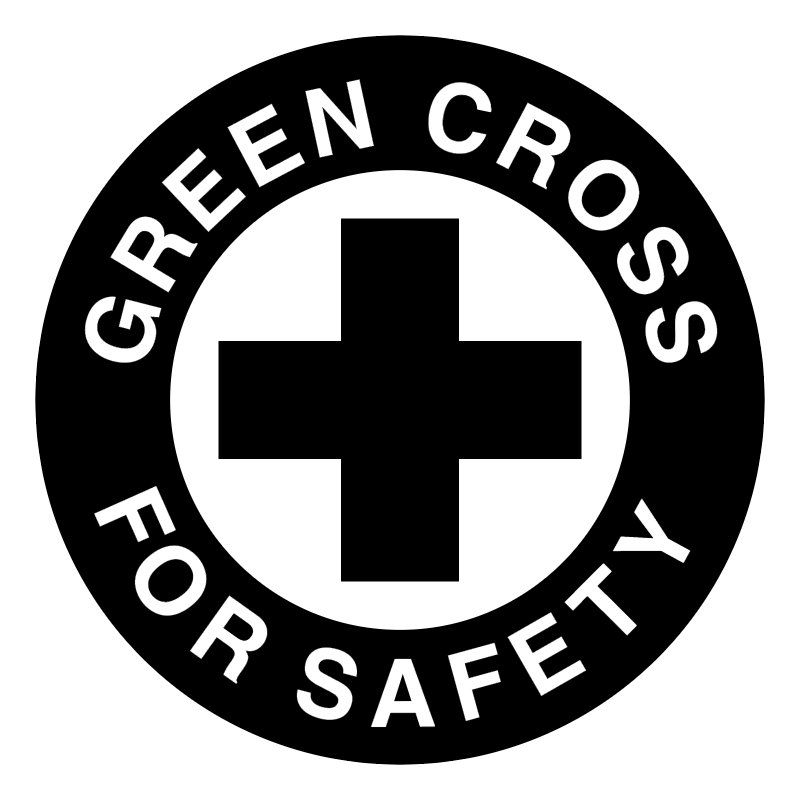 Green Cross For Safety vector