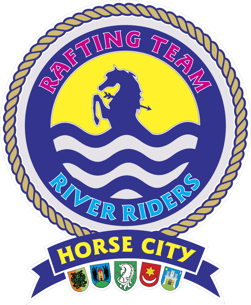 River Riders Horse City vector