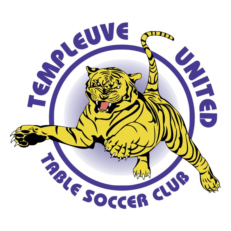 Templeuve United Table Soccer Club vector