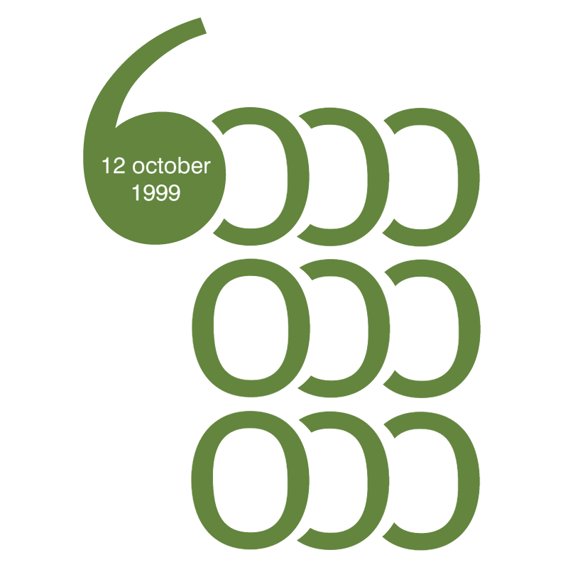 The Day of 6 Billion vector logo