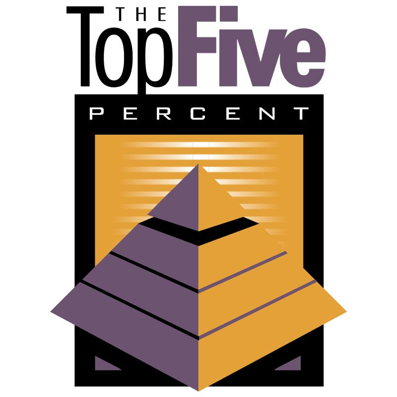 Top Five Percent vector logo