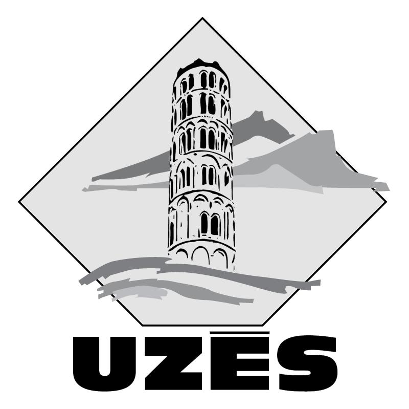 Ville de Uzes vector