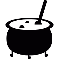 Witch cauldron vector