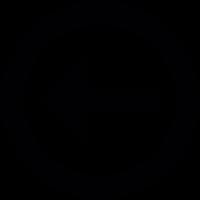 Directional arrow on a circle vector