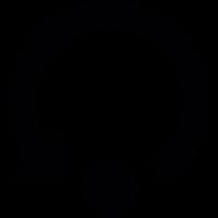 Refresh arrow and dot vector
