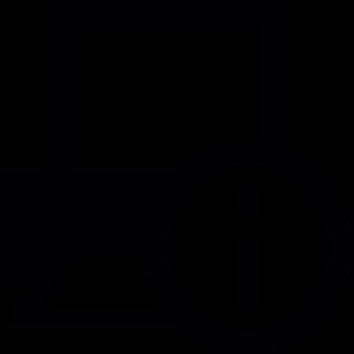 Printer information button vector logo