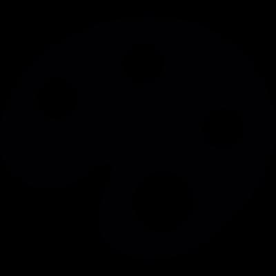 Artist paint palette vector logo