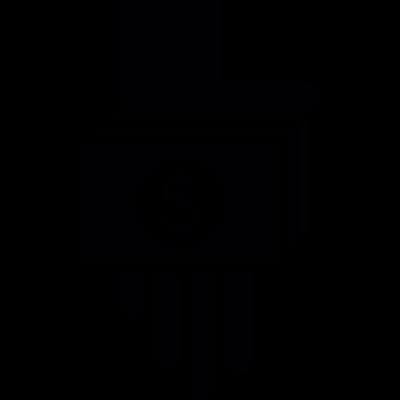 Hand with Bills vector logo