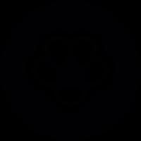 House cat footprint variant vector
