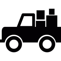 All-terrain vehicle with cargo vector