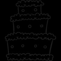 Three Levels Cake vector