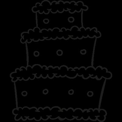 Three Levels Cake vector logo