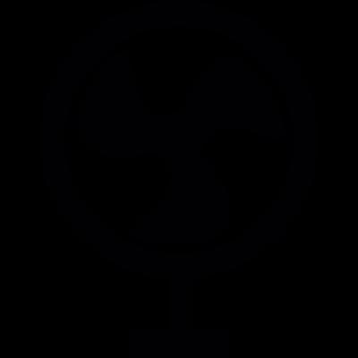 Circular fan vector logo