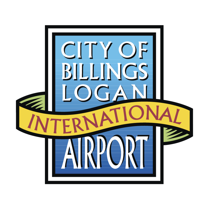 City Billings Logan International Airport vector
