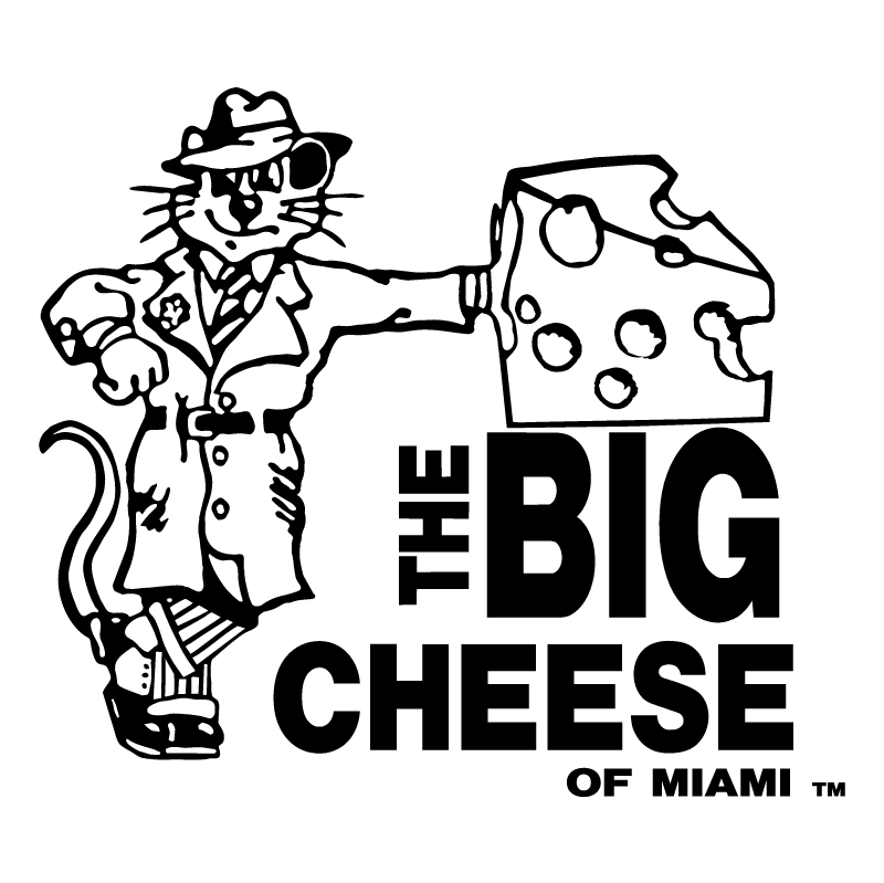 The Big Cheese of Miami vector