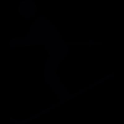 Man Skiing vector logo