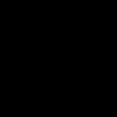 Calendar Day Fifteen vector logo