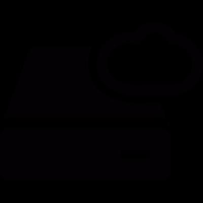 Cloud storage vector logo