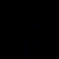 Lighbulb with filament vector