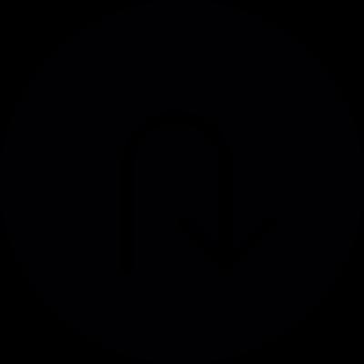 Arrow down, IOS 7 interface symbol vector logo