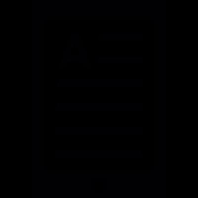 Document file on tablet vector logo