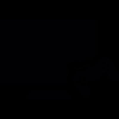 Gaming console and television monitor vector logo