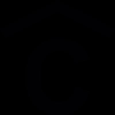 Capital letter C with a chevron arrow on top vector logo