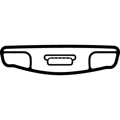 Electricity connection of phone at the bottom of the tool vector logo