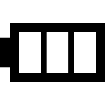Battery image with three areas vector logo