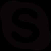 Social buttons, skype vector
