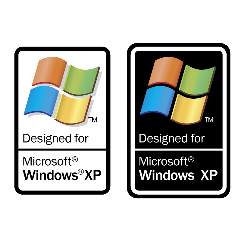 Designed for Microsoft Windows XP vector