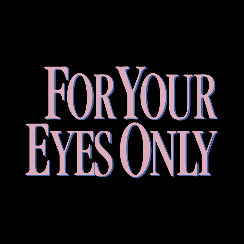 For Your Eyes Only vector logo