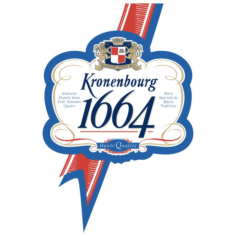 Kronenbourg 1664 vector