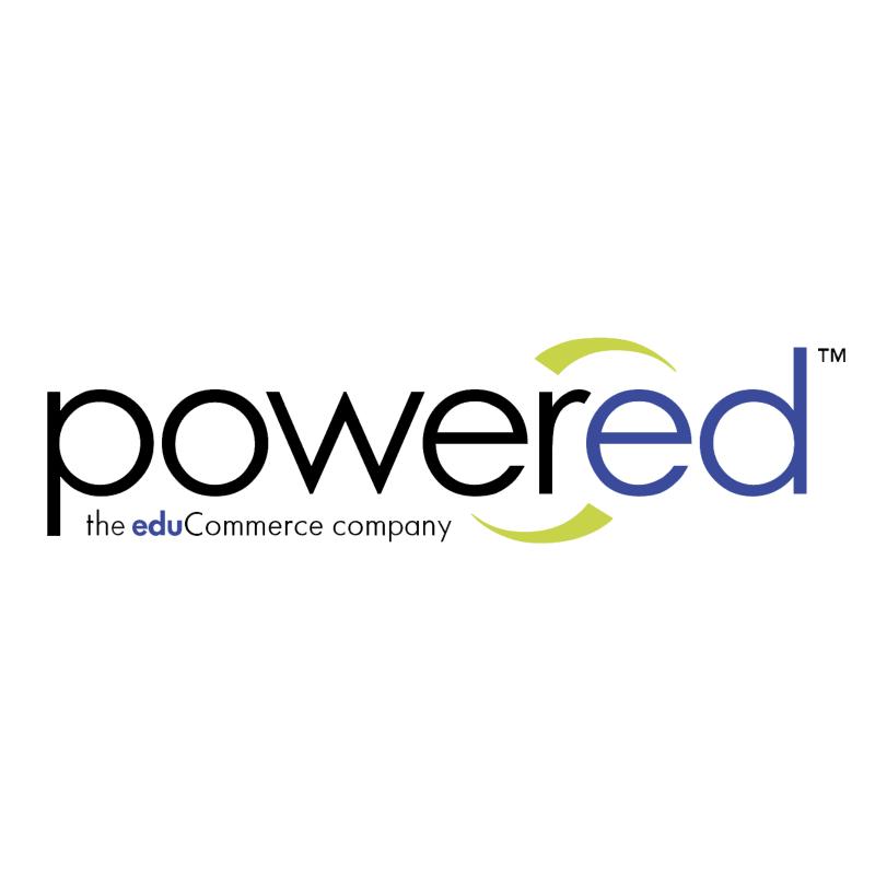 Powered vector logo