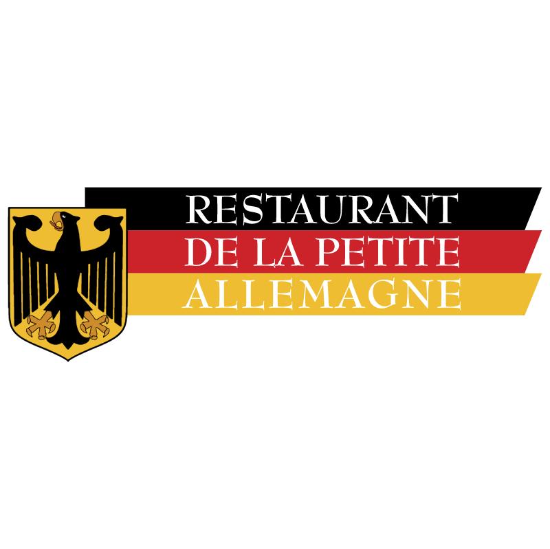 Restaurant De La Petite Allemagne vector