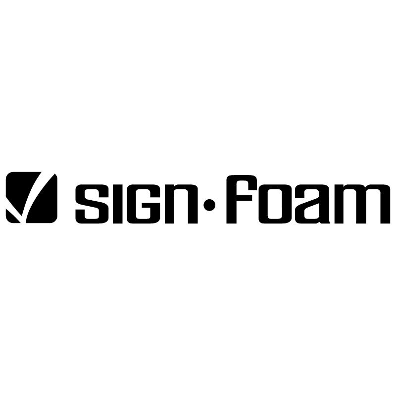 Sign Foam vector