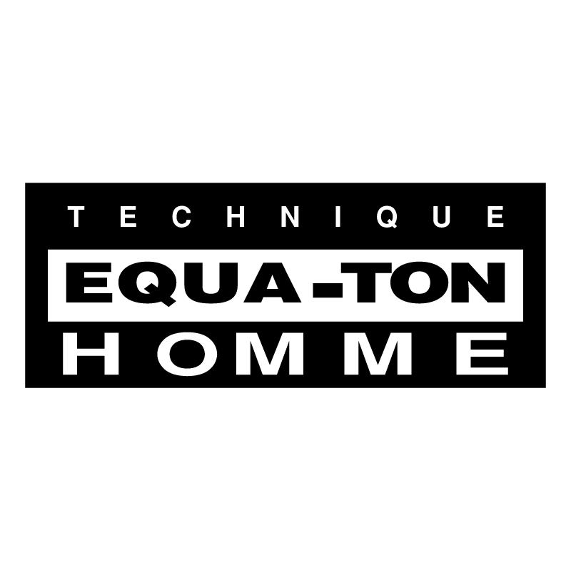 Technique Equa Ton Homme vector logo