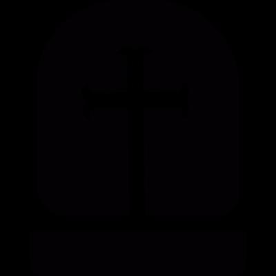 Headstone with cross vector logo