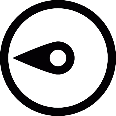 Compass needle west vector logo