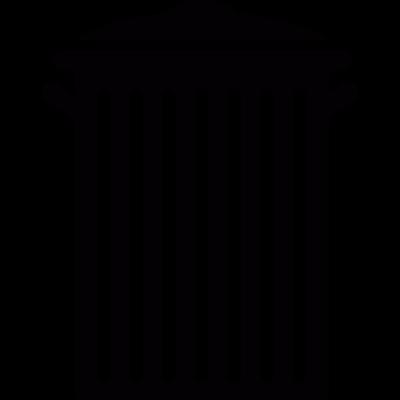 Paper bin vector logo