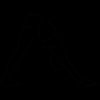 Yoga asana of a woman vector