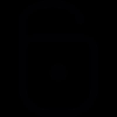 Padlock open vector logo